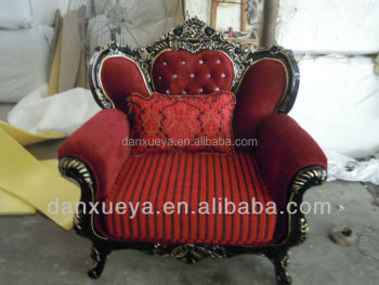Indonesian Carved Wood Carved Sofa , Victorian Sofa Sets , King Throne Sofas