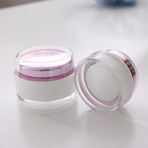 Hot Sell Round Acrylic Luxury Facial Cream Jar Empty Clear Classic Mask Cosmetic Container Crystal Cream Jar