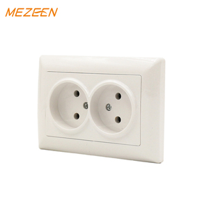 Low price safety smart home 16a 220v plug base oem eu style non grounding double wall socket outlet