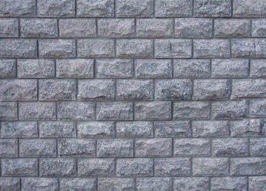 Revestimento Da Parede De Pedra De Granito Cinza Pedras