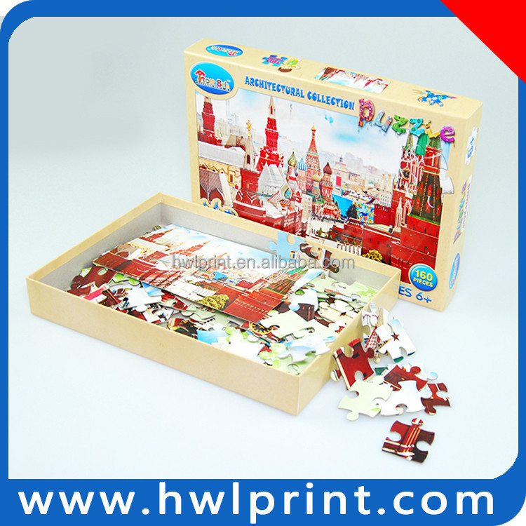 Intelligence toy table game jigsaw puzzle architectural art