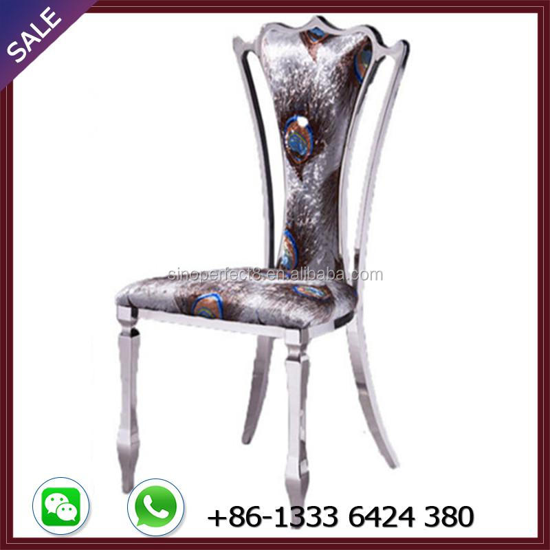 Produce stainless steel banquet chair in China