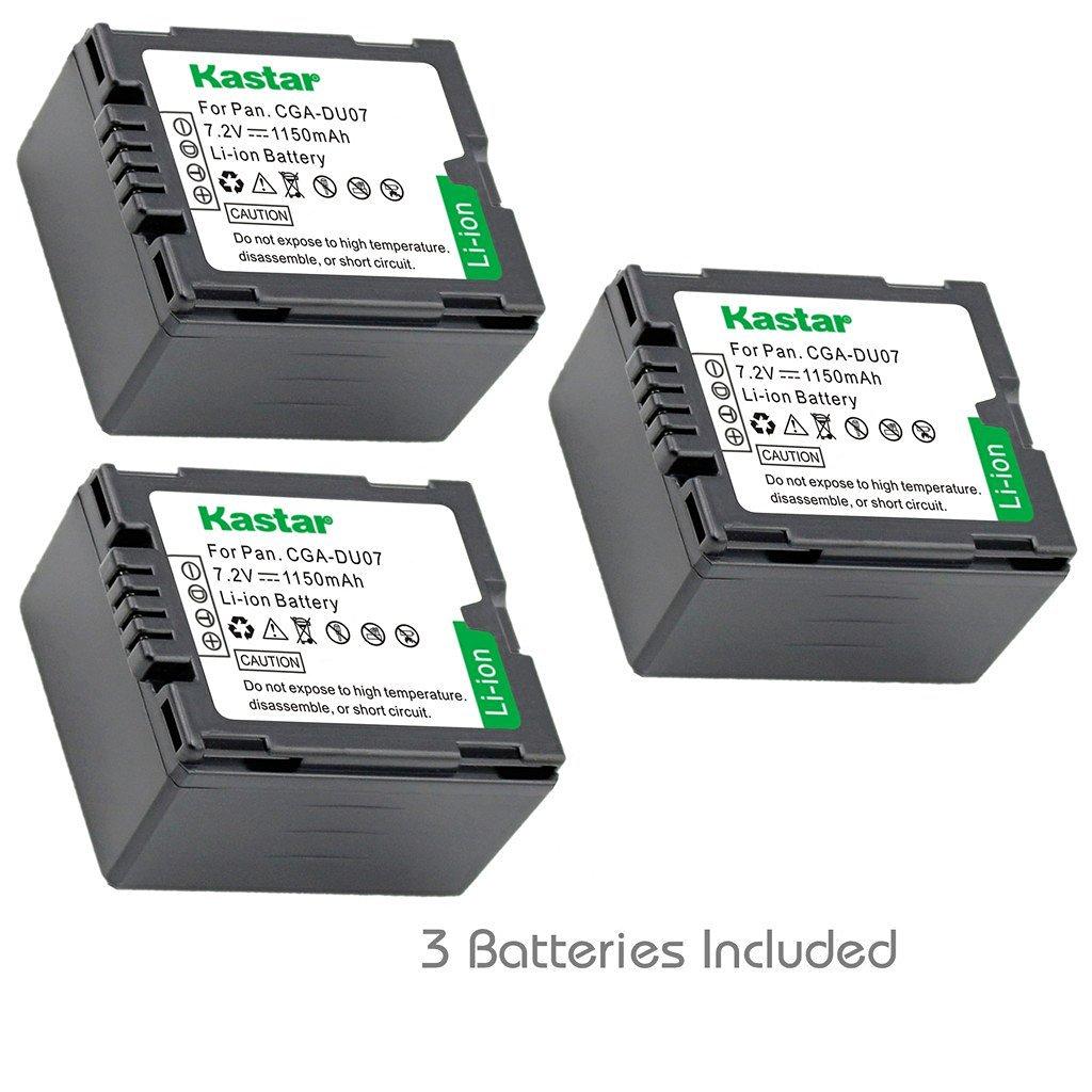 Get Quotations · Kastar Battery (3-Pack) for Panasonic CGA-DU06, CGA-DU07