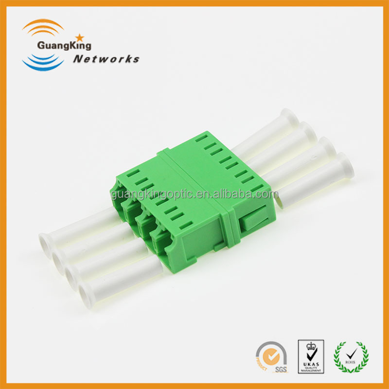 Low Price Factory Supply LC-LC Coupler APC/UPC/PC SC Type Quad Optical Fiber Adapter