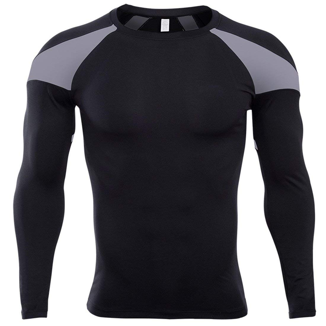 SEVENWELL Men's Dri Fit Compression Shirts Long Sleeve Gym Workout Fitness Base Layer Breathable Tops M-2XL