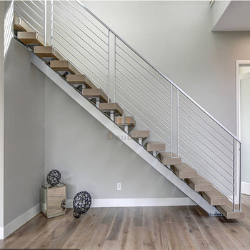 Modern Wood Steps Stainless Steel Stairs Grill Design Buy