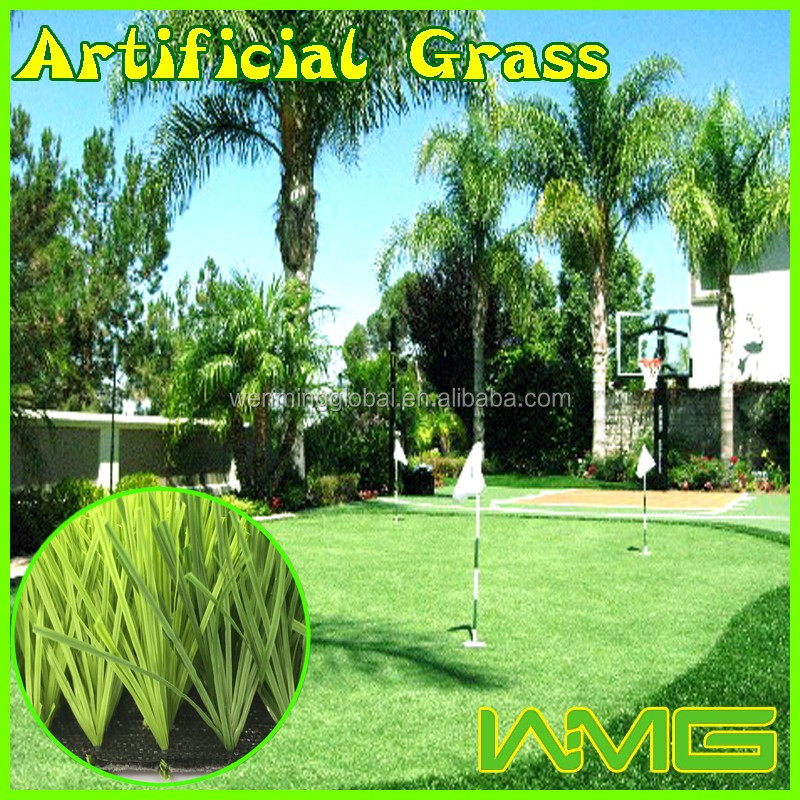 Artificial landscaping grass fake turf used in garden field