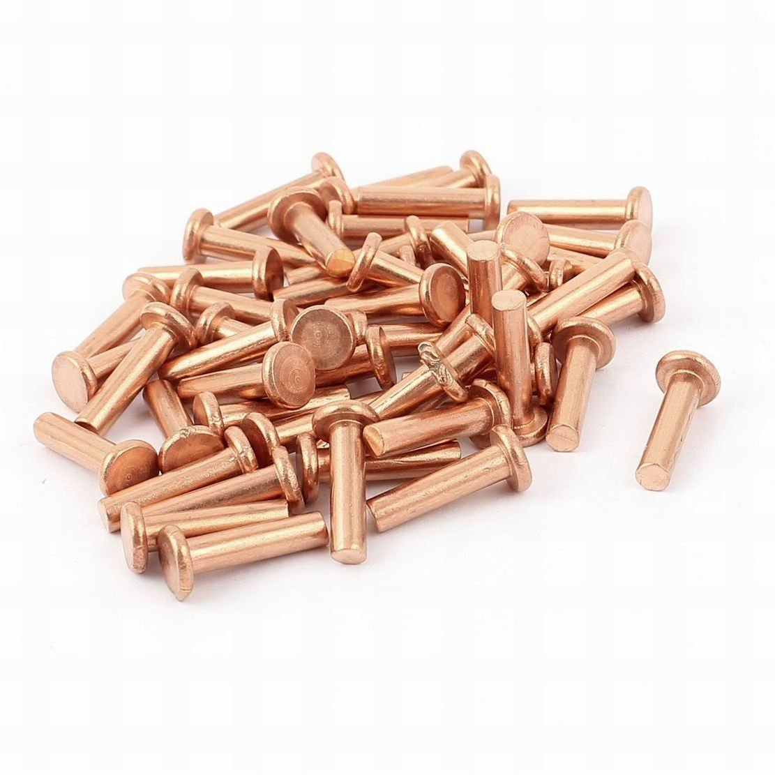 uxcell 25 Pcs 5//32 x 5//16 Flat Head Copper Solid Rivets Fasteners