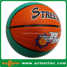 cheap soft rubber standard basketball customized size 7