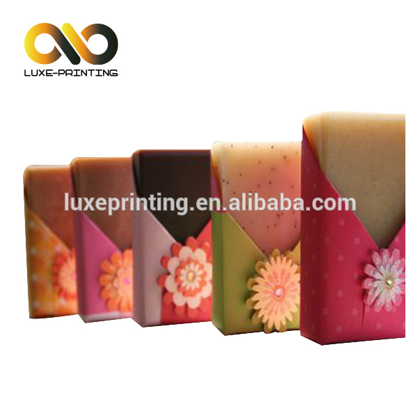 Customized paper sleeve soap paper box colorful soap packaging box