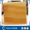 Chinese honey yellow onyx marble tiles for floor design
