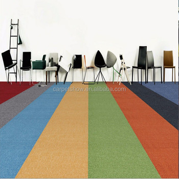 Solid Color Carpet Tiles Used Office Commercial
