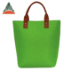 Newest Large Tote Bags Green Women PU Handles Felt Handbag