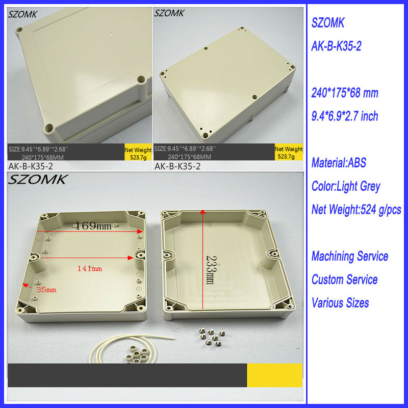 240*175*69mm IP65 Waterproof Plastic Enclosure Under Water PCB Protector Housing