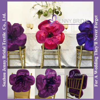 Cheap Wedding Chair Covers >> C436c Purple Flower Chair Sash Cheap Wedding Chair Covers For Sale View Wedding Chair Covers Jenny Bridal Product Details From Suzhou Jenny Bridal