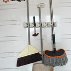 Factory Direct Selling 5 Position 6 Hooks Wall Mount Mop Holder