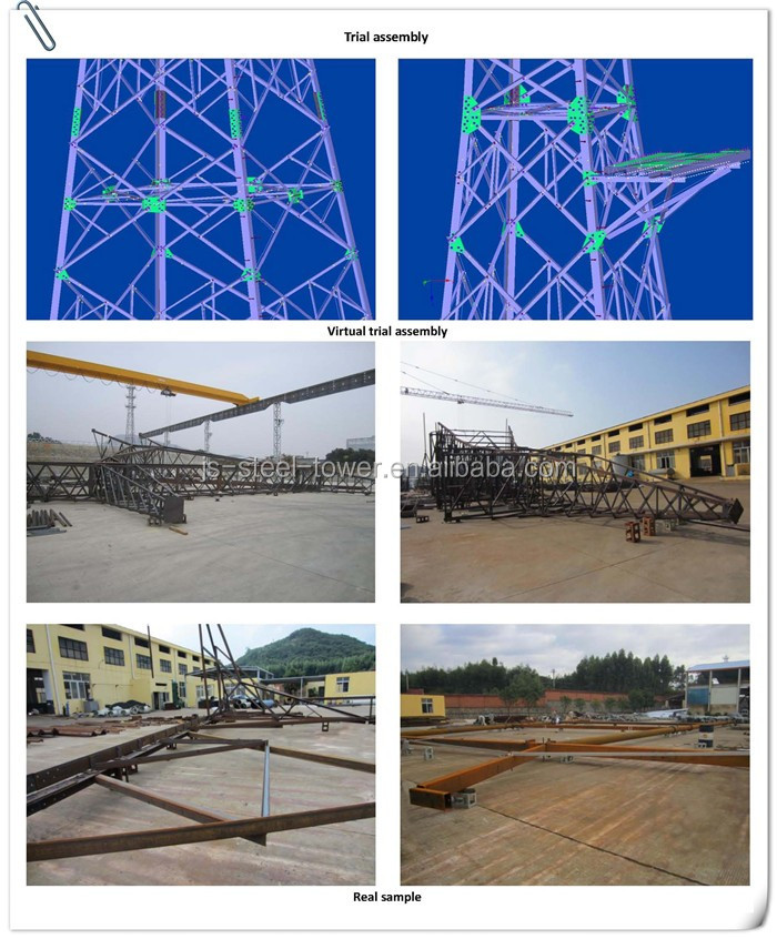 110KV Power Transmission Steel Pole