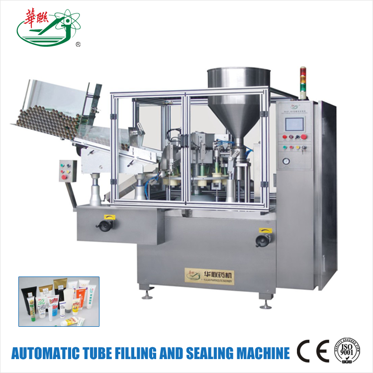 HUALIAN 2017 New Products 10-42mm Diameter Aluminum Ointment Tube Filling And Sealing Machine