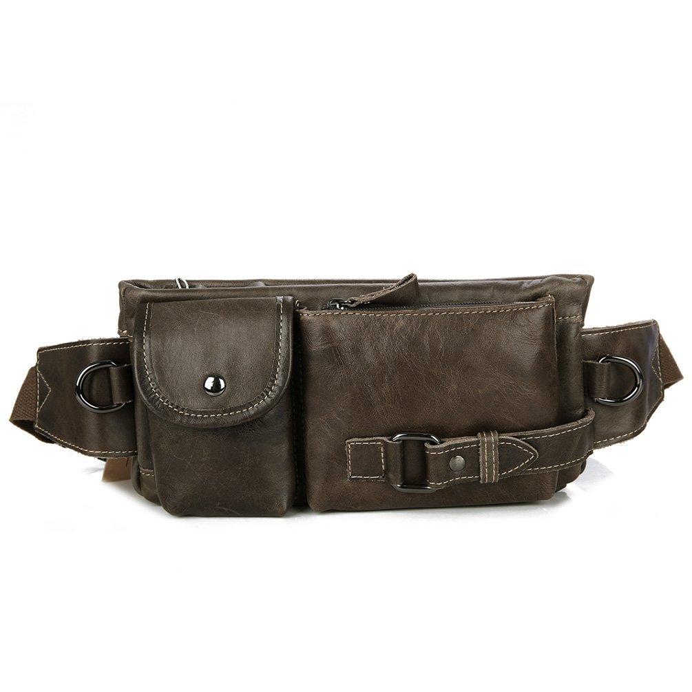 Genda 2Archer Small Vintage Double Pouch Cross Body Shoulder Bag Waist Belt Bag