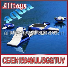 inflatable football goal game,giant inflatable floating water toy