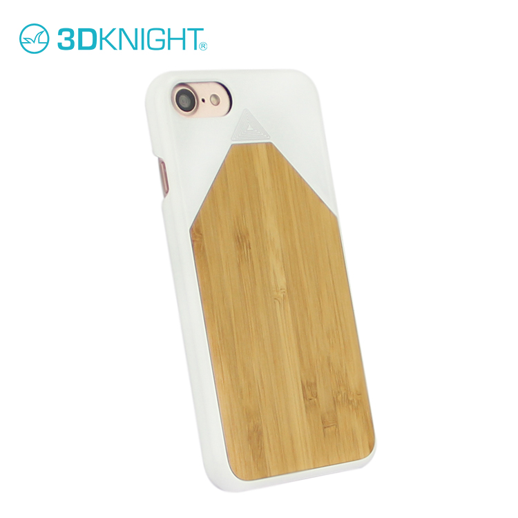 Real wood pencil design shockproof hard back case cover for iphone 7 7 plus bamboo smart original cover