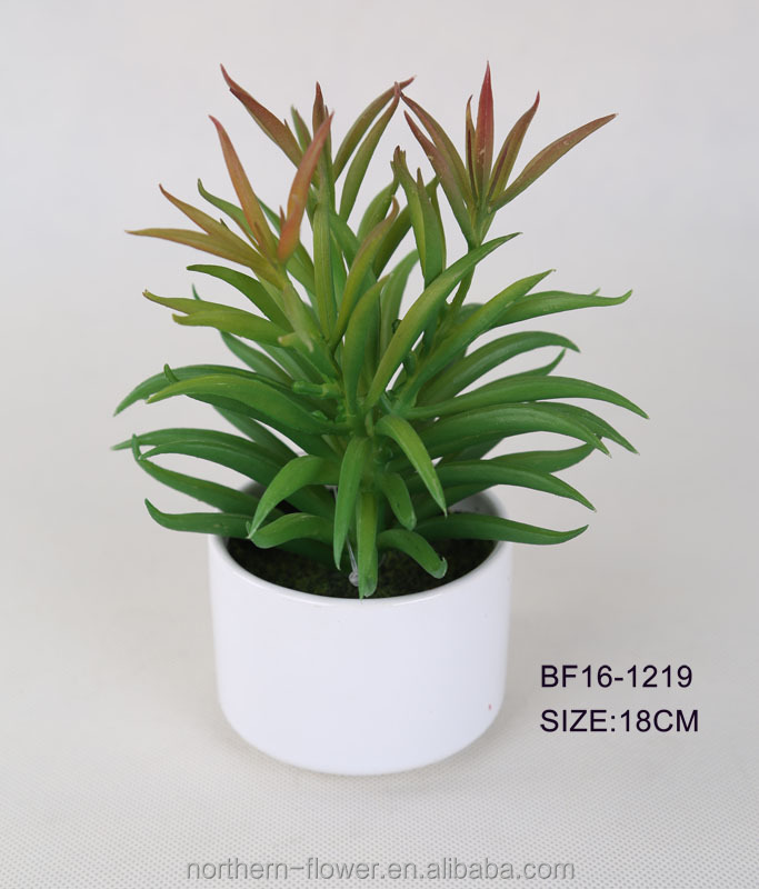 realistic mini green artificial tropical succulent plants for home decoration