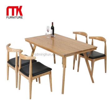 Tavolo Moderno In Rovere.Stile Moderno In Legno Massello Di Rovere Set Da Pranzo Tavolo E 4