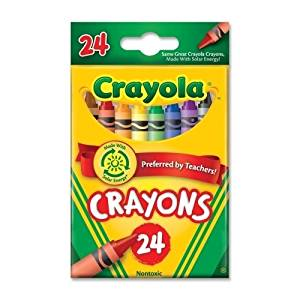 "Crayon Set, 3-5/8"", Permanent/Waterproof - Binney And Smith Crayon Set, 3-5/8"", Permanent/Waterproof, 24/Bx, Assortedbright, Quality Crayola Crayons In Peggable Box Produce Brilliant, Even Colors. Cr"