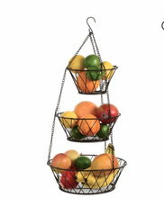 Heavy Duty-<span class=keywords><strong>3</strong></span> <span class=keywords><strong>Tier</strong></span> Opknoping Keuken Brons <span class=keywords><strong>Fruitmand</strong></span>/Groente/Produceren Metalen Mand Rack Display Stand