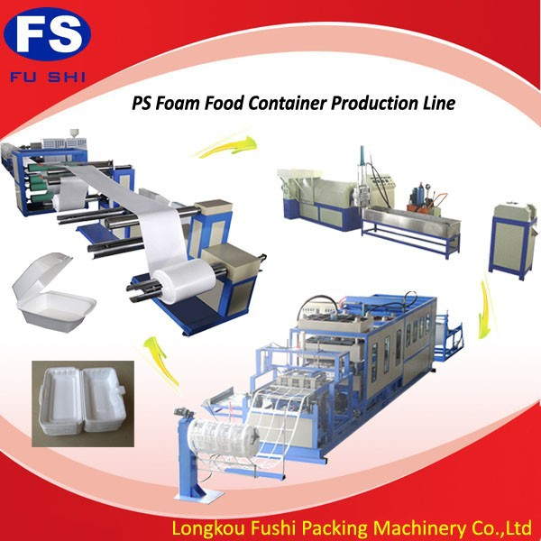 PS Foam Plate and dish and food box production line