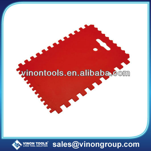 Best Selling Plastic Adhesive Spreader, Grout Spreader, Plastic Notch Spreader