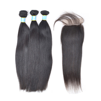 HD human hair lace front closure,straight peruvian human hair closure,straight mink cheap peruvian hair bundles with closure