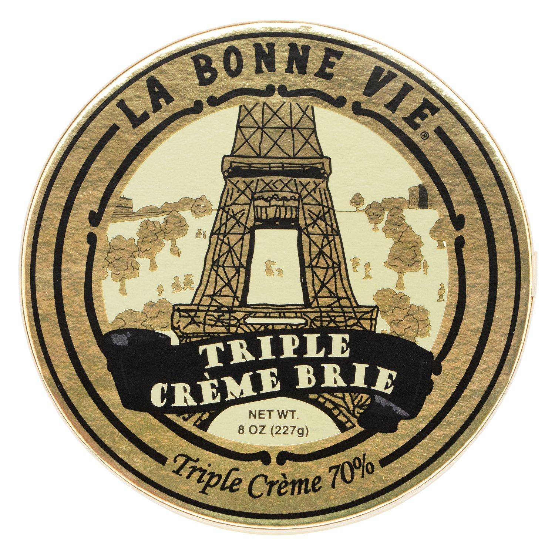 La Bonne Vie French Style Brie, Triple Creme, 8 oz