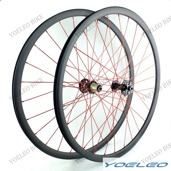 Top Quality 30mm Wide 25mm deep Carbon 29er ruedas mtb china with Novatec hubs and Aero Spokes