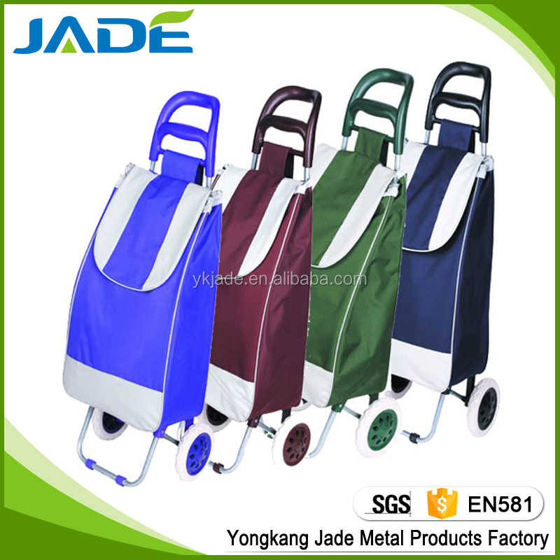 Promotional Canvas 2 Wheels Folding Shopping Trolley Bag Smart Cart OEM Factory As seen on TV
