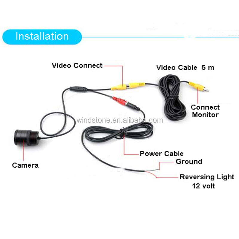 Waterproof IP68 130 Degrees Car Camera Made in China