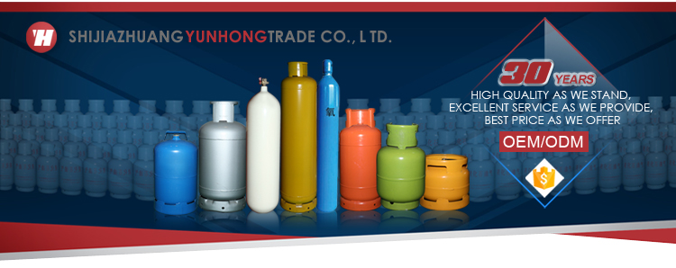 ISO standard customized 9kg cooking lpg gas tank for sale