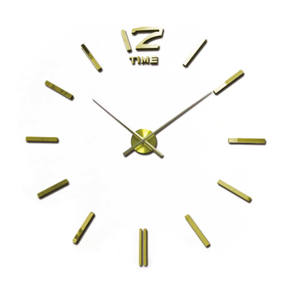 2016 hot sale 3d large wall clock modern design mirror wall stickers diy clock horloge murale. Black Bedroom Furniture Sets. Home Design Ideas