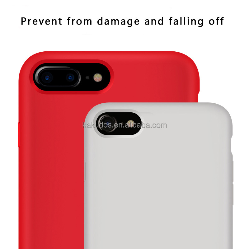 Original silicone and internal fluff hard back cover case for iphone8 8plus