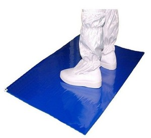 Adhesive Layered Disposable ESD Cleanroom Sticky Mat Polyethylene