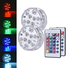 Home wedding decoration light waterproof ip68 ir remote control submersible decorative led light