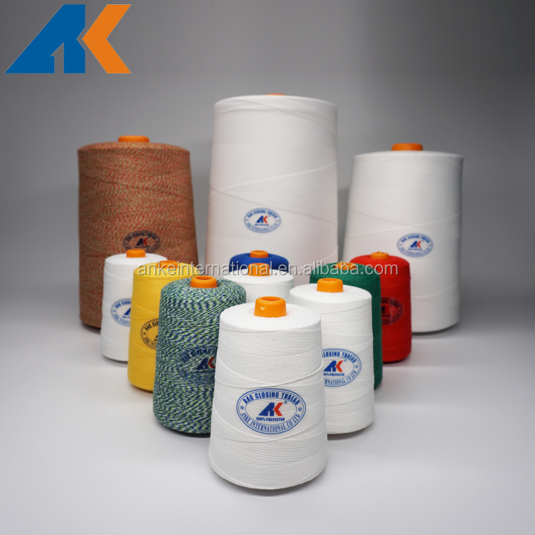 100% polyester bag closing sewing thread 12/4 20/4 20/6 20/7