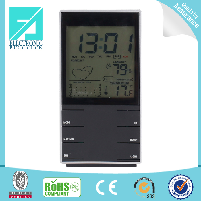Fupu Competitive factory price promotional professional digital desk weather station clock with calendar temperature