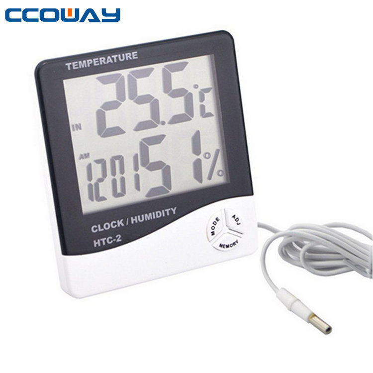 home multi digital thermometer and hygrometer with clock