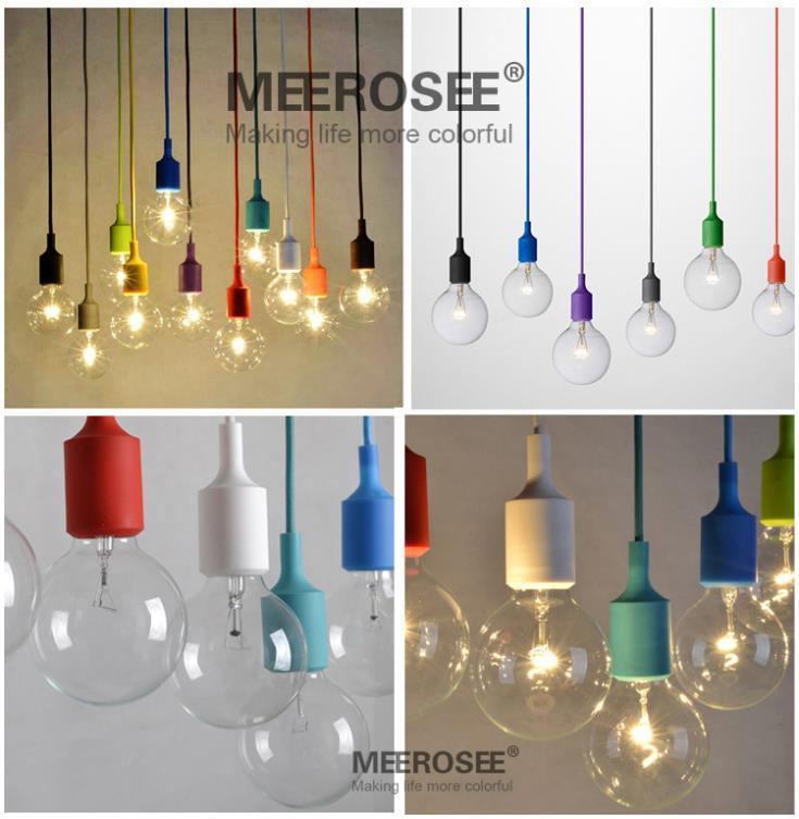 buy colorful e27 socket pendant light suspension drop lamp modern vintage. Black Bedroom Furniture Sets. Home Design Ideas