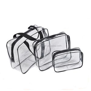 Transparent clear cosmetic bag PVC bag with zipper lock