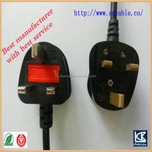 British power cable iec c5 power connector dimmer switch inline AC power cable