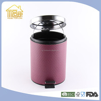 Round Shape industrial dust bin waste bin with leather cover 20L 30L