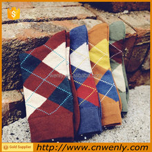 Winter Season Mid-Calf Socks Argyle Socks For Men