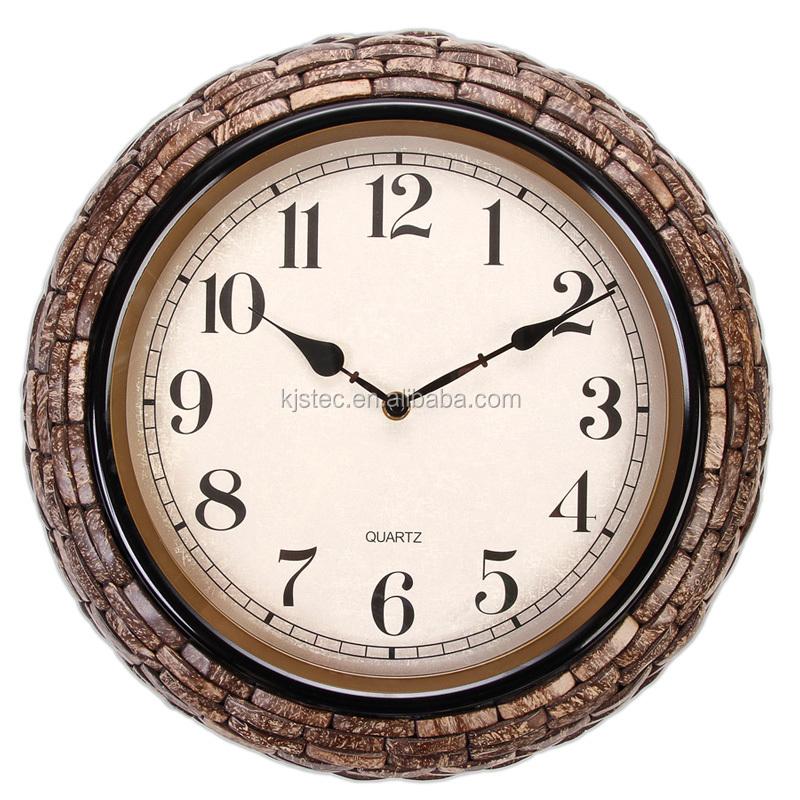 Ore orologio da parete in metallo speciale con naturale for Orologi particolari da parete